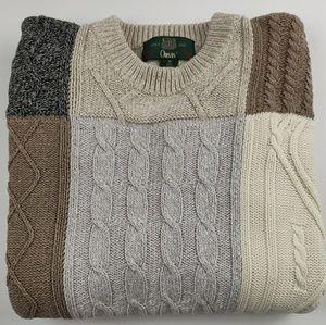 Orvis Men's Patchwork Plaid Cotton Sweater